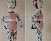 Illustrated Lady, tattooed art doll