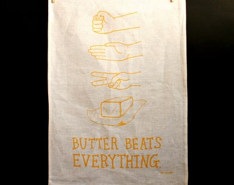 Tea Towel - Butter Beats Everything