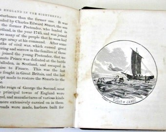 Antique History Book 1800s Merry Old England and Her History 1856