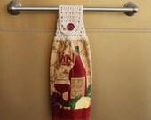 Vin Rouge Crocheted Top Towel-KOE24