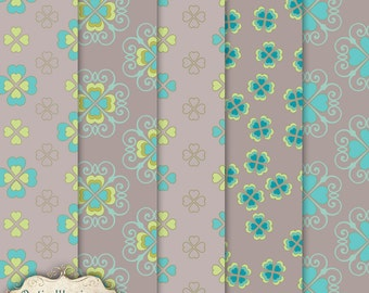 Layered Patterns Vol 5 - INSTANT DOWNLOAD - Commercial Use - Scrapbooking, Digital Papers, Card Supplies, Graphic Design- 3.75