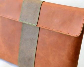 iPad PRO Leather Sleeve - BIG PAPAYA (Organic Leather)