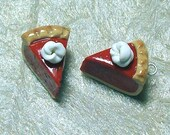Pumpkin Pie Slice Charms - Dollop of Whipped Cream