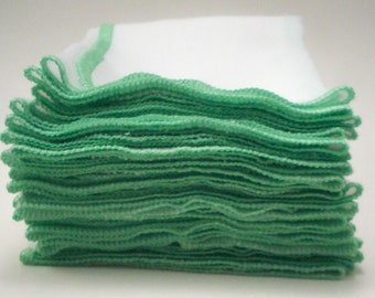 Unpaper Towels - Spring Green - Eco Friendly Reusable Birds Eye Cotton - Cleaning and Laundry Washable Paper Towel Replacement