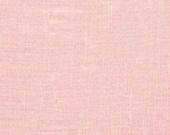 medium weight linen..light pink...1 yard of softend 100% euro linen
