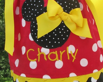 red  and black Minnie mouse pillowcase dress