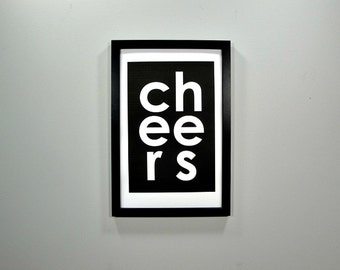 Cheers - FRAMED Print - Choose Your Size