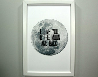 I Love You to the Moon and Back - FRAMED Print