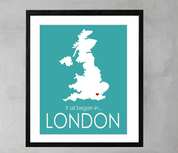 Personalized wedding gift Map Art London Wedding Map Custom Wedding ...