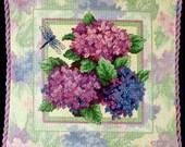 "NEW --- ""Pastel Profusion"" from Sunset Needlepoint --- Hydrangeas Pillow Design"