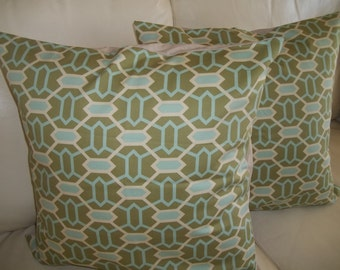 Pillow Cover, Throw PIllow Covers, Decorative Pillow Cover, 18 x 18 Pillow Cover, set of 2 Pillow Covers