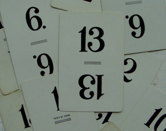 Two Dozen Antique Numbers Playing Cards