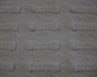 White Button Hole Morgan Jones Vintage Chenille Fabric