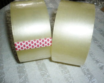 "2 Clear Packing Tape 2"" 55 yards 2 Rolls"