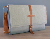 "13"" / 15"" / 17"" Laptop messenger bag - light gray"