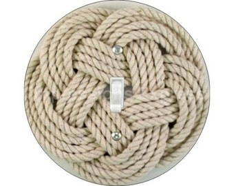 Turk's Head Knot Nautical Single Toggle Switch Plate Cover