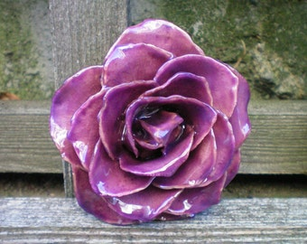 Free Shipping REAL Natural Radiant Orchid, Rich Purple ROSE Pin and Pendant