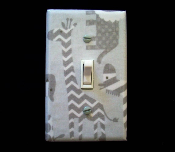 Safari Animals Light Switch Cover Lion By Cathyscraftycovers