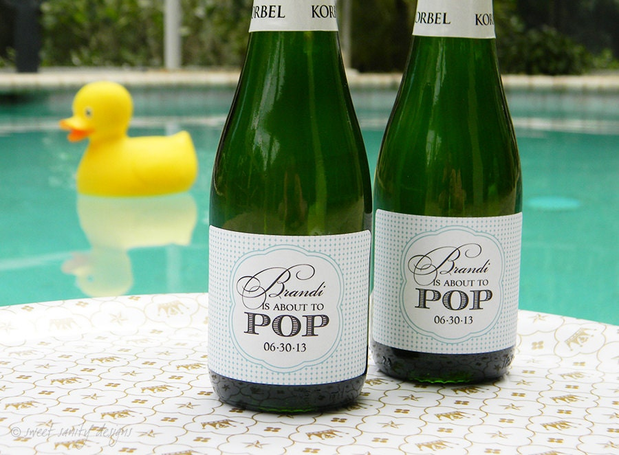 Set Of Custom Mini Champagne Bottle Labels About By
