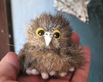 Miniature Baby Owl Plushie