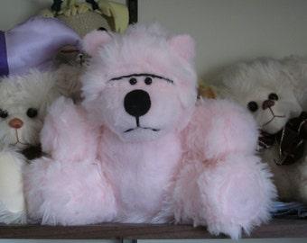 Bubble Gum Pink Teddy Bear OOAK