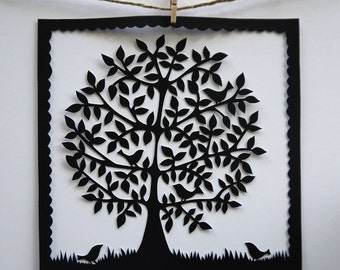 Popular items for tree papercut