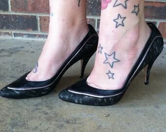 Vintage Black Heels Size 8