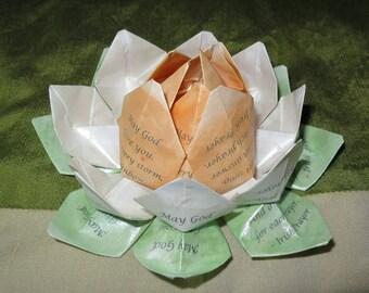 Irish Prayer St. Patrick's Day Blessing Origami Lotus Flower
