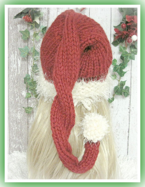 Ho Ho Santa Hat Knitting Pattern Sized Preemie Baby Child