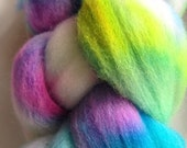 Hand Dyed Merino Wool Carnival Colorway