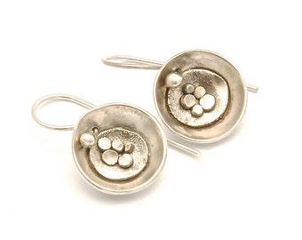 Sterling silver pebble earrings