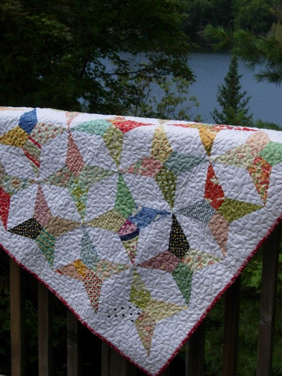 Periwinkle Stars Baby Quilt