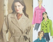 SALE Butterick B4865 Jacket Pattern - Women's Jacket and Belt Double Breasted Raglan Sleeves Fast and Easy Size 4 - 14 High Fashion, Destash