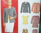 New Look Simplicity 6874 Women's Sewing Pattern High Fashion Career Wardrobe, Jacket, Top, Slim Skirt, Size 8 - 18 Pattern Destash