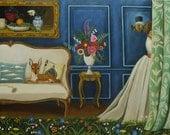 Still Life Painting Interior Fine art print  - Martha My Dear- catherine nolin