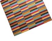 Queen Quilt, Queen Bedding, Queen Blanket, Modern Quilt - Modern Patchwork, Multicolor Sets of Stripes