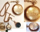 Reserrved for joanne 1898 ELGIN 10kt rose gold Pocketwatch & FOb