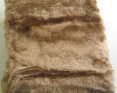 Short Pile Coffee Brown Fur fabric