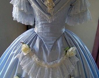FOR ORDERS ONLY - Custom Made - 1800s Victorian Dance Dress - 1840s 1850s 1860s Civil War Ball Gown - Skirt Bodice - Bridal Tea Wedding
