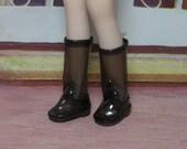 Black Transparent Boots for Blythe