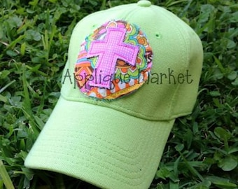 Machine Embroidery Design Applique Raggy Circle with Cross 2 and Hat Tutorial INSTANT DOWNLOAD