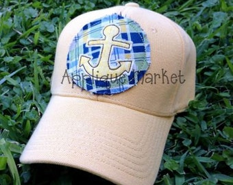 Machine Embroidery Design Applique Raggy Circle with Anchor and Hat Tutorial INSTANT DOWNLOAD