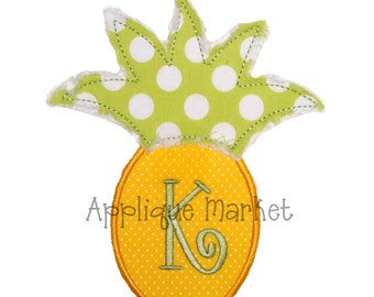 Machine Embroidery Design Applique Pineapple  INSTANT DOWNLOAD
