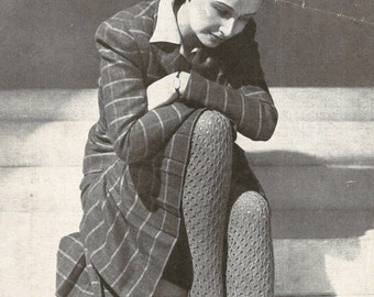 Stockings on 2 Needles Vintage Knitting Pattern 278