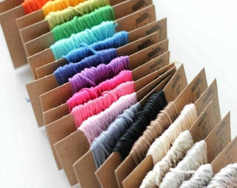 15 Yards of Solid Bakers Twine . Choice of 16 Colors