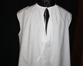 Mens sleeveless pirate shirt, any color, sleeveless for warm summer days & nights