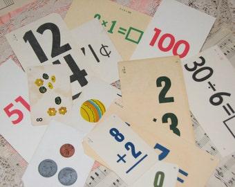 Dozen Assorted Vintage Flash Cards