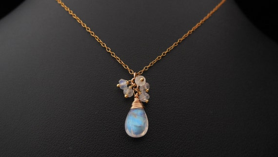 Moonlight in Gold - Ethereal Elegant Bridal Necklace, Wedding Necklace, Gift for Bridesmaids