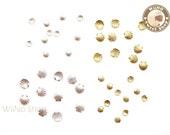 Gold Silver Sea Shell Metal Studs Flat Back Nail Art - 10 pcs  (choice of 2 colors)