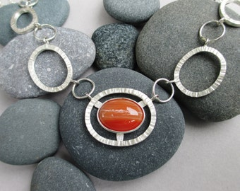 Orange Halo Statement Necklace
